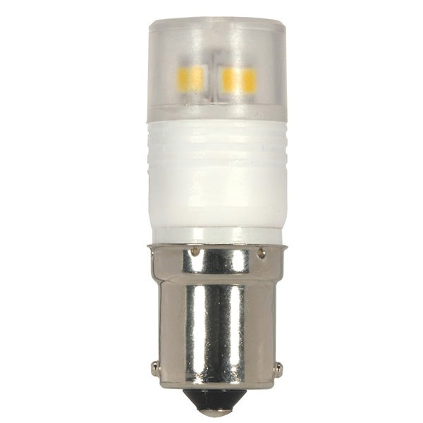 Satco S9222 2.3 Watt 3000K T3 Replacement BA15s Base LED Light Bulb