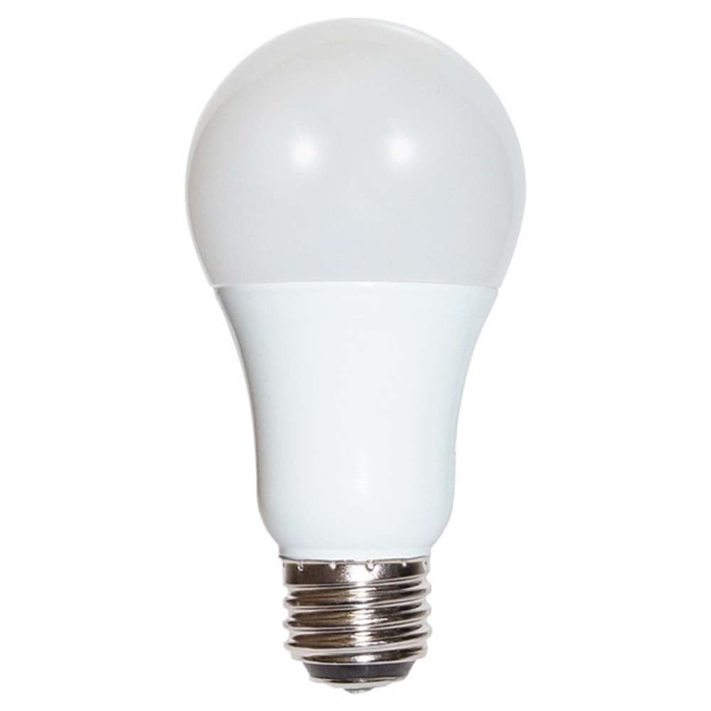 Satco 3-way LED 3/9/12w A19 2700K Warm White Non-Dimmable Bulb