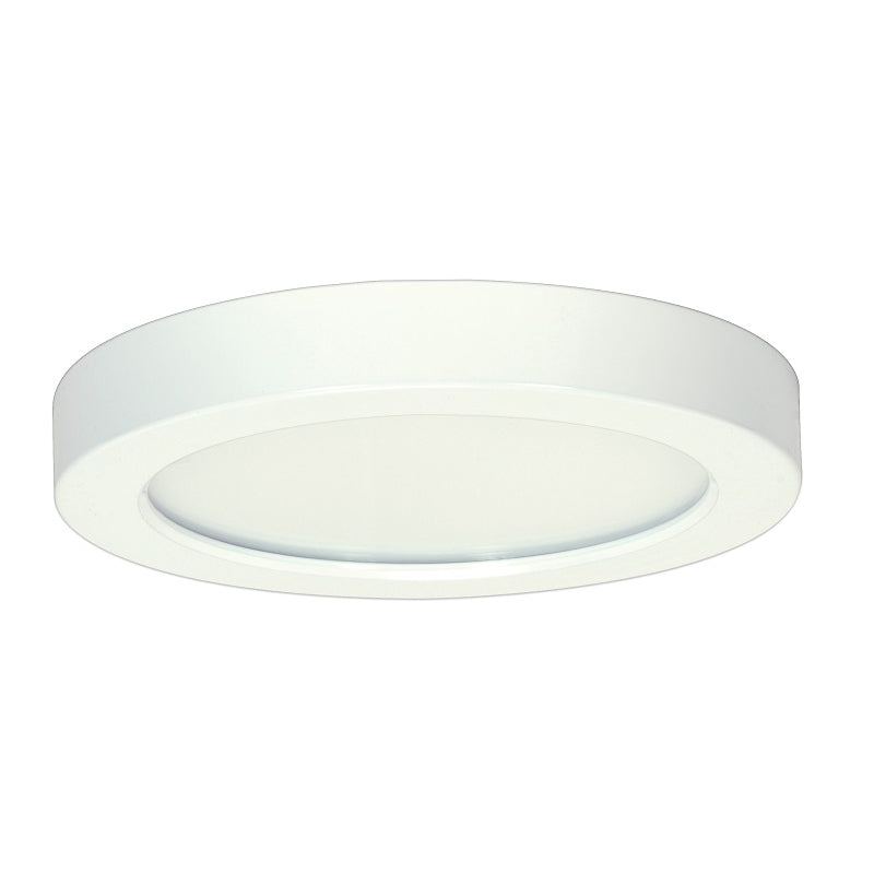 """Satco 13.5w 7"""" Ceiling Flush Mount Fixture w/ Round Shape in White Finish 3000k"""