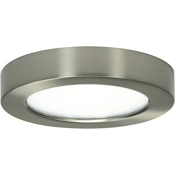"10.5W 5"" Flush Mount LED Fixture 3000K Round Shape Brushed Nickel Finish 120V"