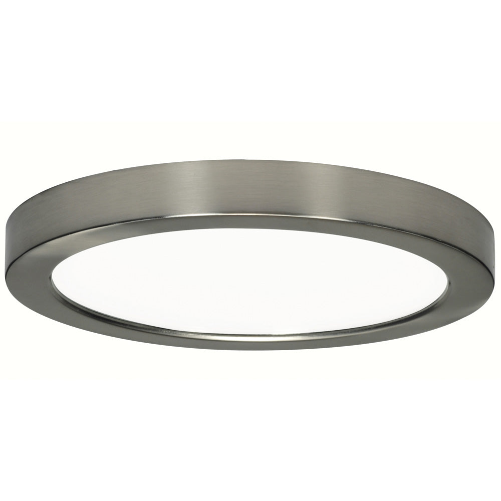 """Satco 18.5w 9"""" Ceiling Flush Mount w/ Round Shape in Brushed Nickel 3000k"""