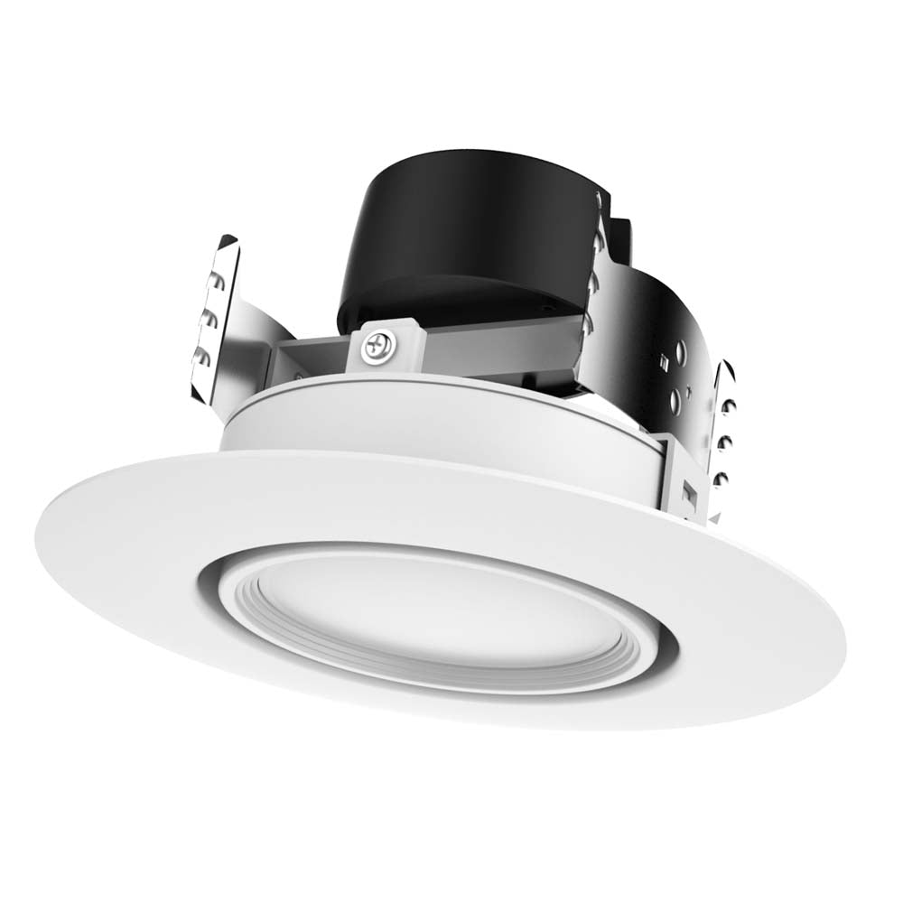 Satco 4in. 9w LED Gimbaled Directional Retrofit Downlight 3000K 40 deg. Beam spread