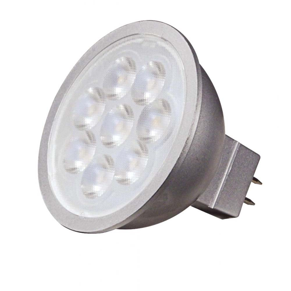 Satco 6.5w LED MR16 Expanded Line 3500K 25 deg. Beam GU5.3 Base 12v - 50w-equiv