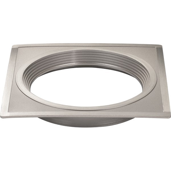 "4"" Square Trims, Option for 4"" base unit - Brushed Nickel finish"