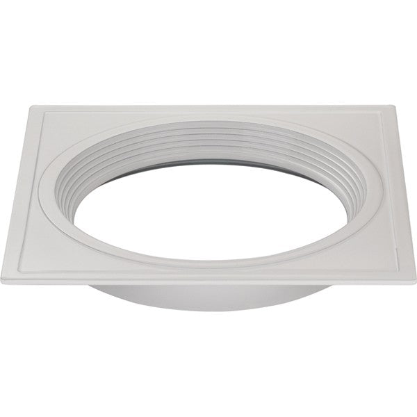 "6"" Square Trims, Option for 5"" & 6"" base unit - White finish"