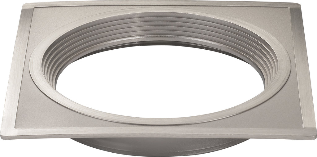 "6"" Square Trims, Option for 5"" & 6"" base unit - Brushed Nickel finish"