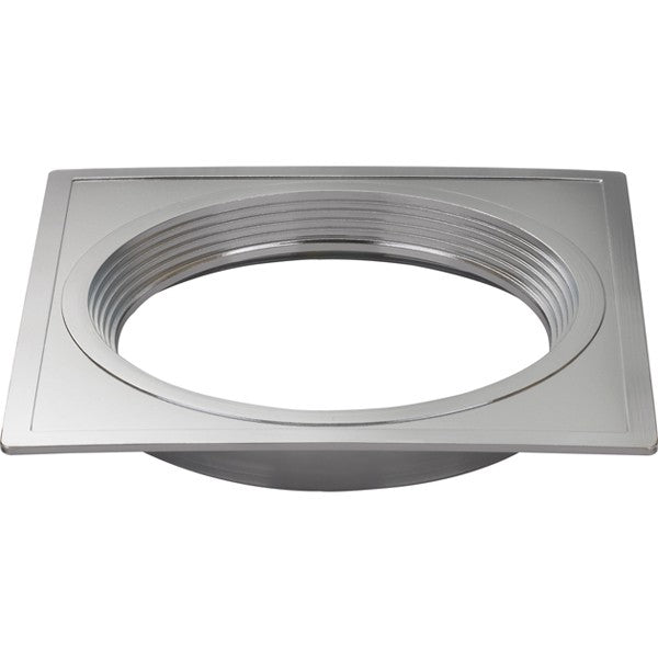 "6"" Square Trims, Option for 5"" & 6"" base unit - Polished Nickel finish"