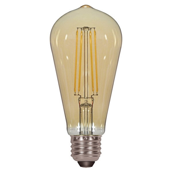 Antique Filament LED 4.5W 2000K ST19 E26 Dimmable Transparent Amber 120v Bulb