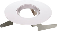 "6"" Round Adjustable Gimbal Trims, Option for 6"" base unit - White finish"
