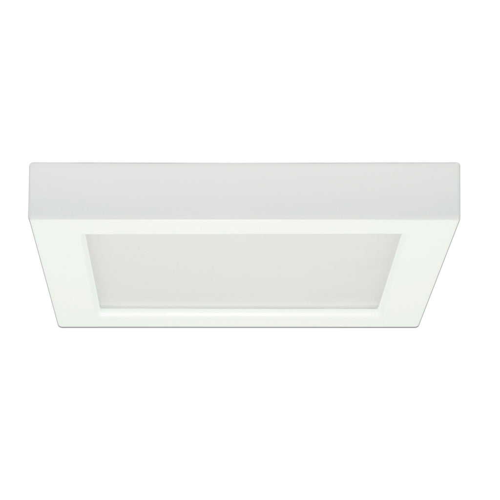 "Satco 13.5w 7"" Ceiling Flush Mount w/ Square Shape in White Finish 3000k"