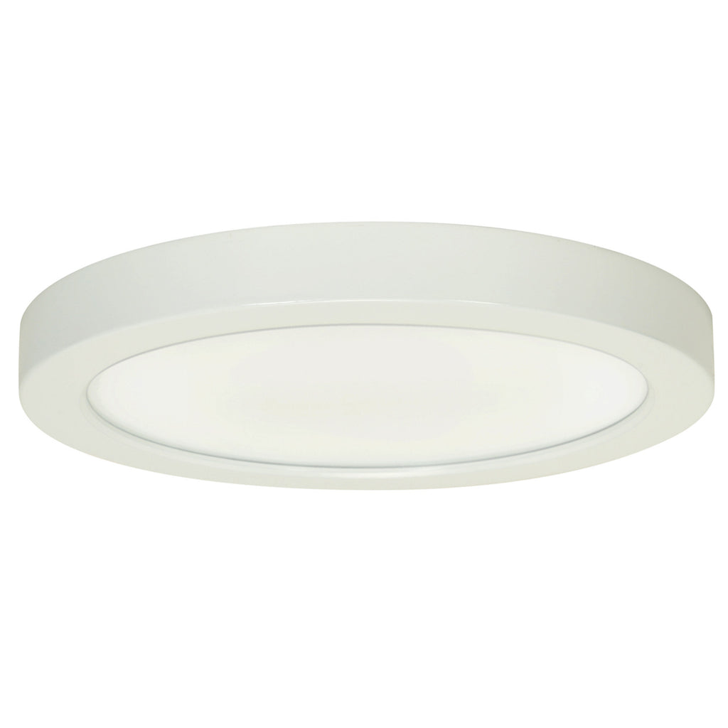 Satco Blink 18.5W LED 9 inch White Rounded Ceiling Flush Mount Fixture - 3000K