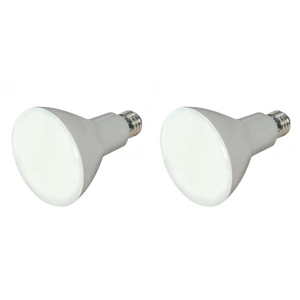 2Pk - Satco 8W BR30 LED 650Lm 2700K Warm White Dimmable Bulb - 65w Equiv