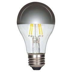 6.5w A19 LED 120v Silver Crown E26 Medium base 2700K Warm White Dimmable Light Bulb