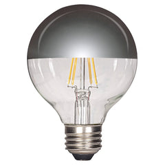 4.5w G25 LED 120v Silver Crown E26 Medium base 2700K Warm White Dimmable Light Bulb