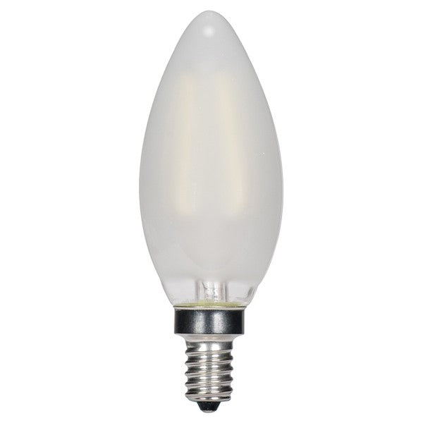 3.5w C11 LED 120v Frosted E12 Candelabra base 2700K Warm White Dimmable Light Bulb