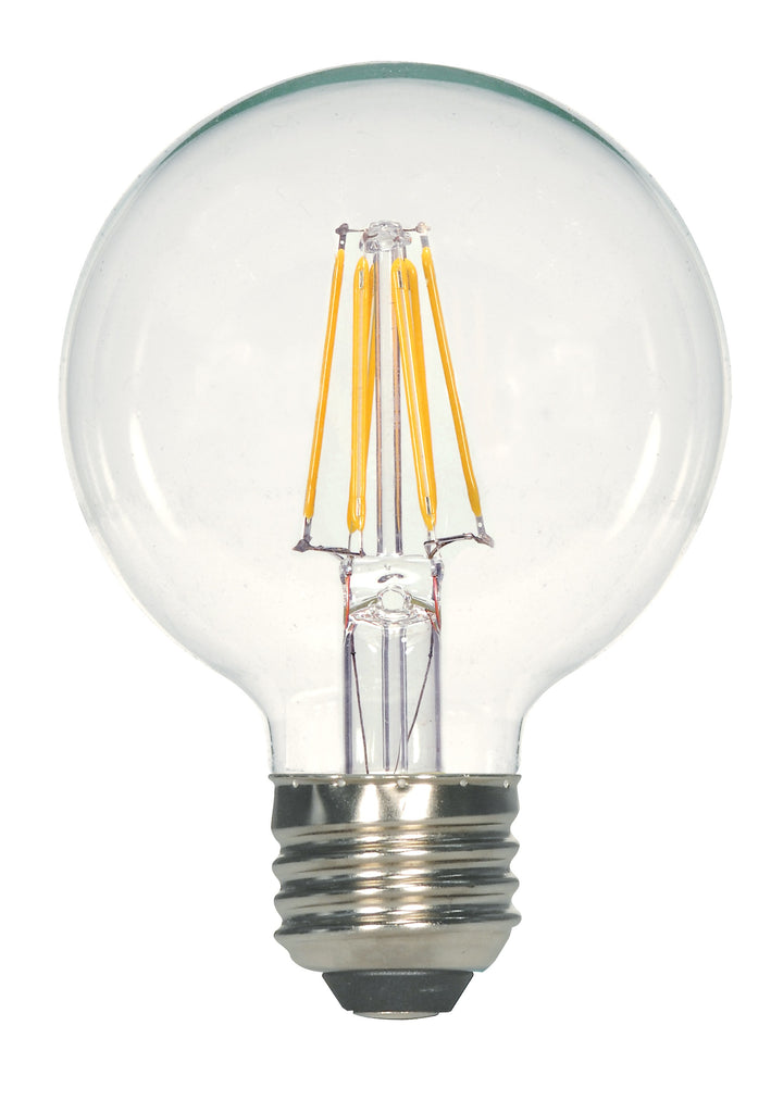 4.5w G25 LED 120v Clear E26 Medium base 2700K Warm White Dimmable Light Bulb