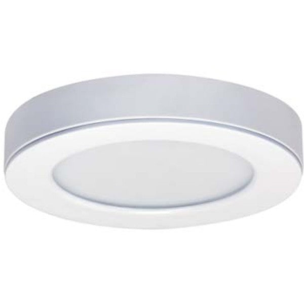 "12.5W 6"" Flush Mount LED Fixture 3000K White finish 120V"