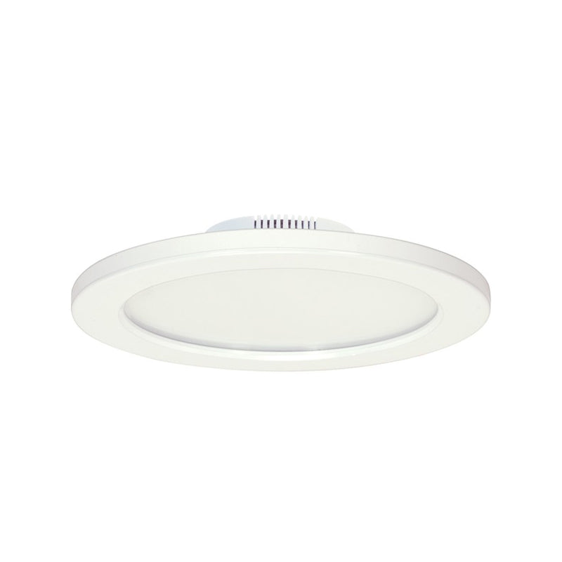 Satco 12W White LED 7 inch Round Ceiling Blink Slim Flush Mount Fixture