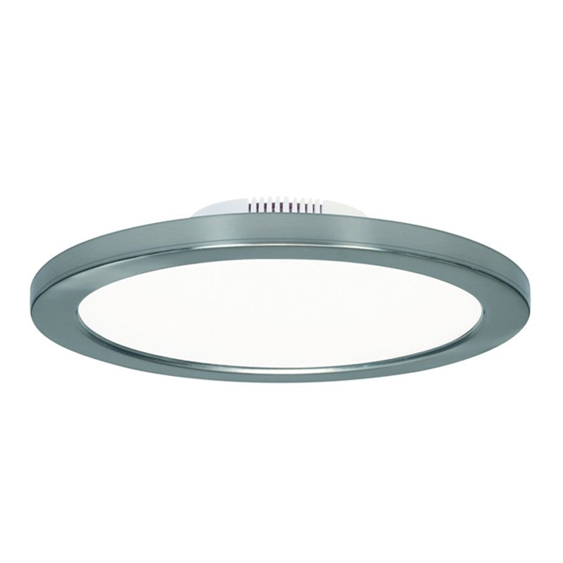 Satco 12W Polished Nickel LED 7in Round Ceiling Blink Slim Flush Mount Fixture