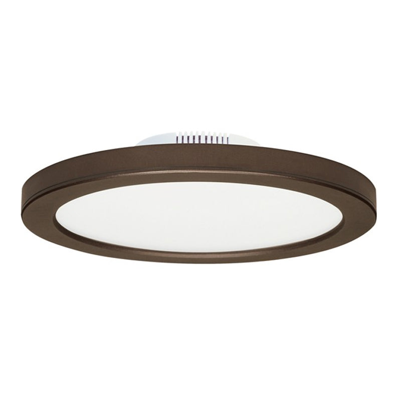 Satco 12W Bronze LED 7in Round Ceiling Blink Slim Flush Mount Fixture