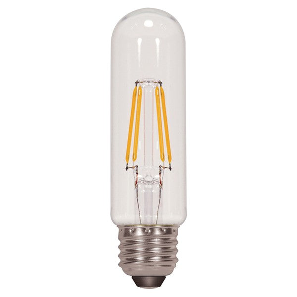 4.5w T10 LED 120v Clear E26 Medium base 3000K Warm White Dimmable Light Bulb