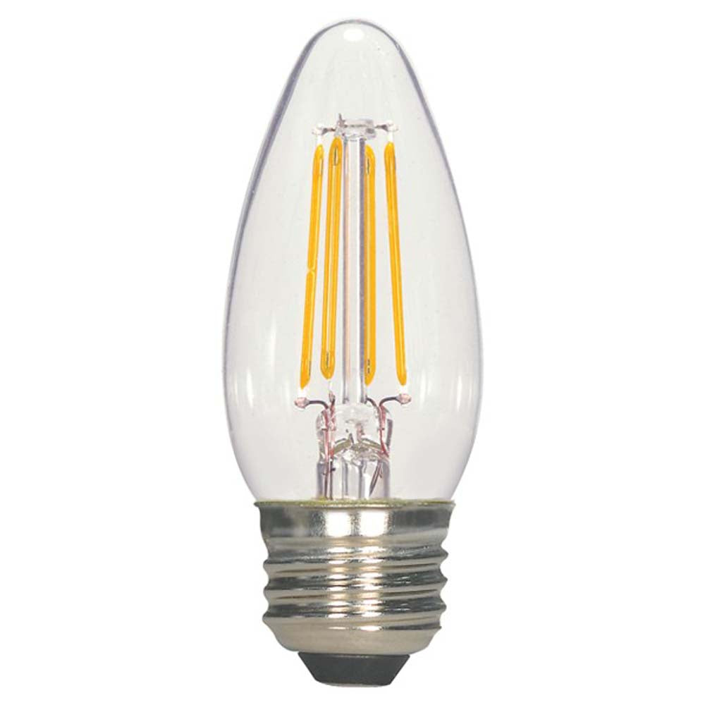 5.5w C11 Candle LED Filament 2700K Warm White Dimmable E26 Base Bulb