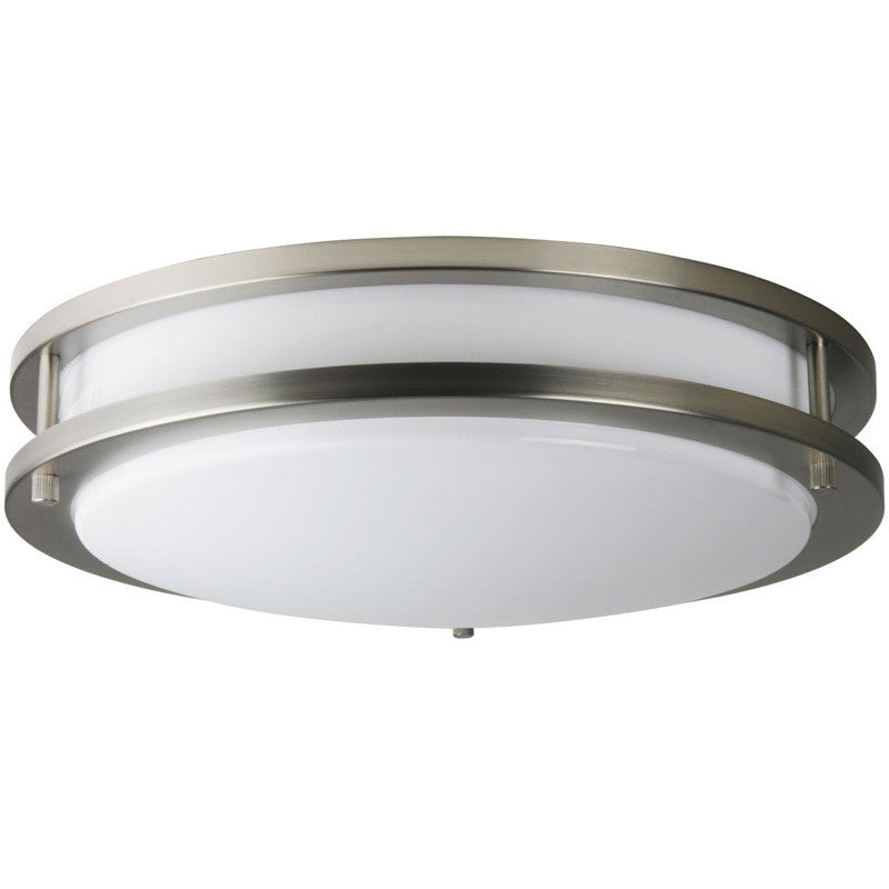 SUNLITE 16in Band Trim Fixture Satin Nickel - 2 Energy Star 23w Bulbs