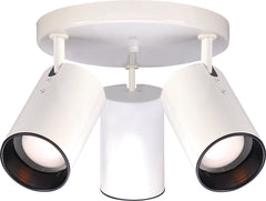 Nuvo 3-Light R20 w/ Straight Cylinder in White Finish