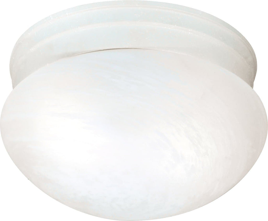 "2-Light 10"" Flush Mounted Close-to-Ceiling Light Fixture in Textured White"