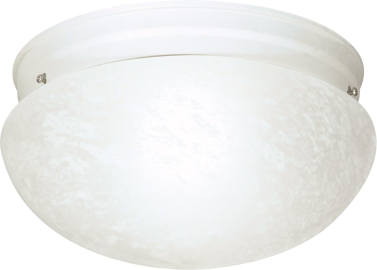 """2-Light 12"""" Flush Mounted Close-to-Ceiling Light Fixture in Textured White"""
