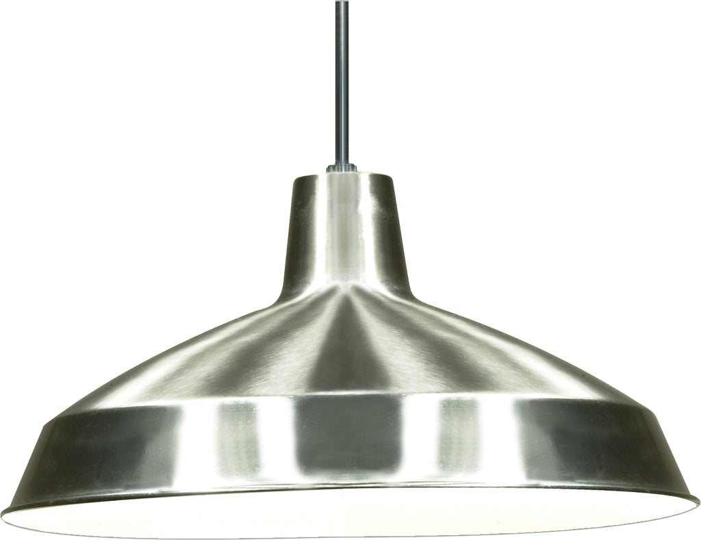 1-Light Pendants Mounted Pendant Light Fixture in Brushed Nickel Finish