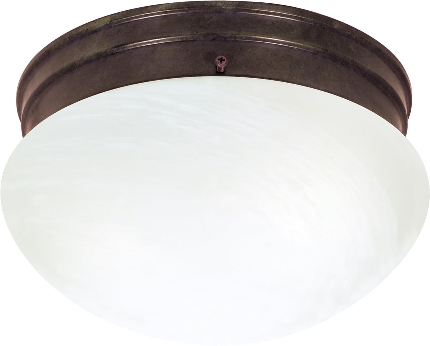 2-Lights 10 Inch Flush Mounted Close-to-Ceiling Light Fixture Old Bronze Finish