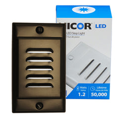 NICOR LED Step Light with Oil-Rubbed Bronze Vertical Faceplate