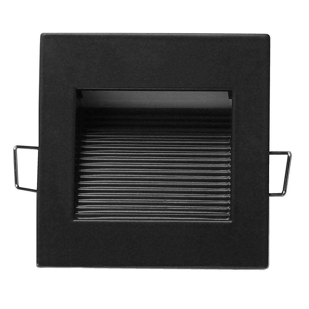 NICOR LED Square Accent Pathway Steplight, Black