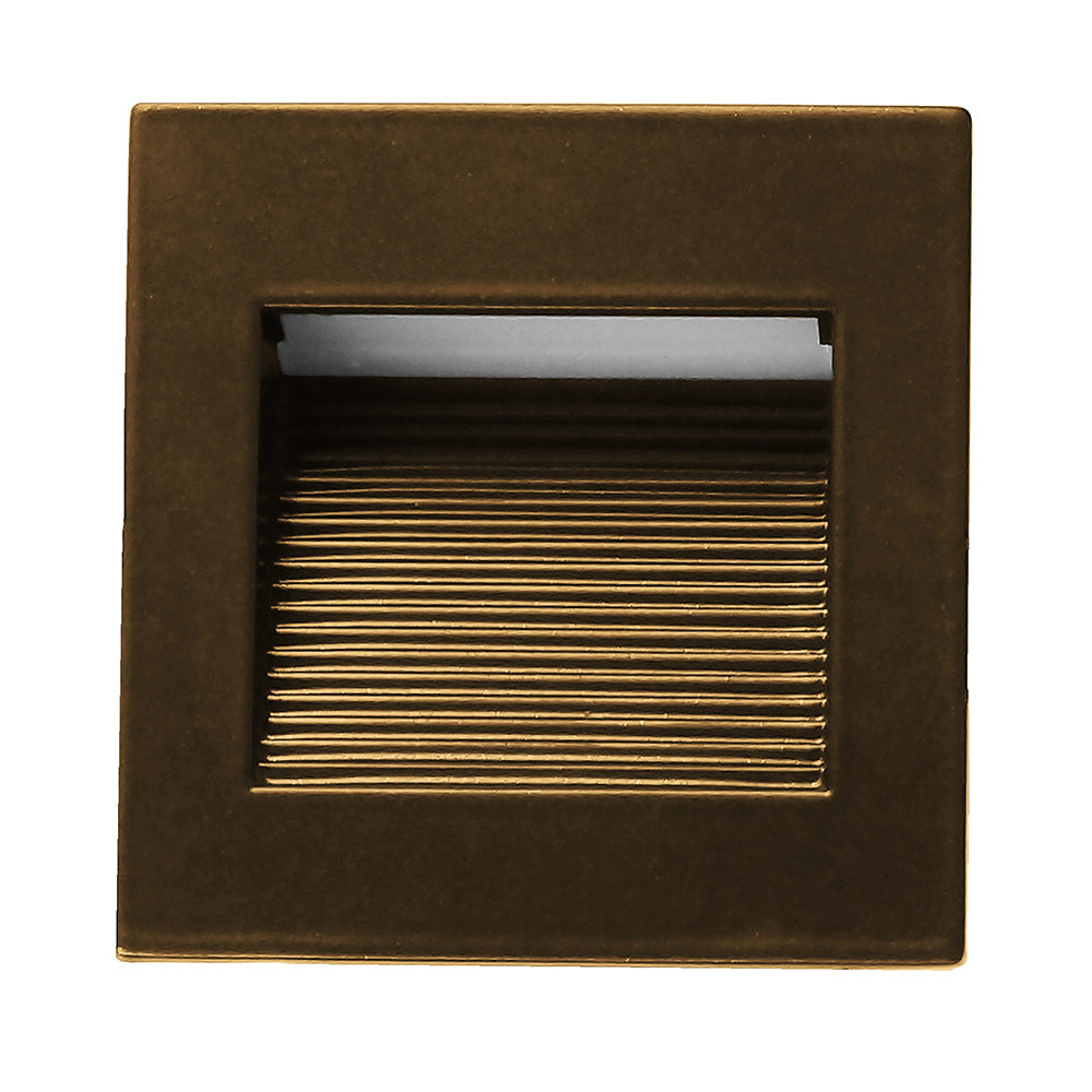NICOR LED Square Accent Pathway Steplight, Oil-Rubbed Bronze