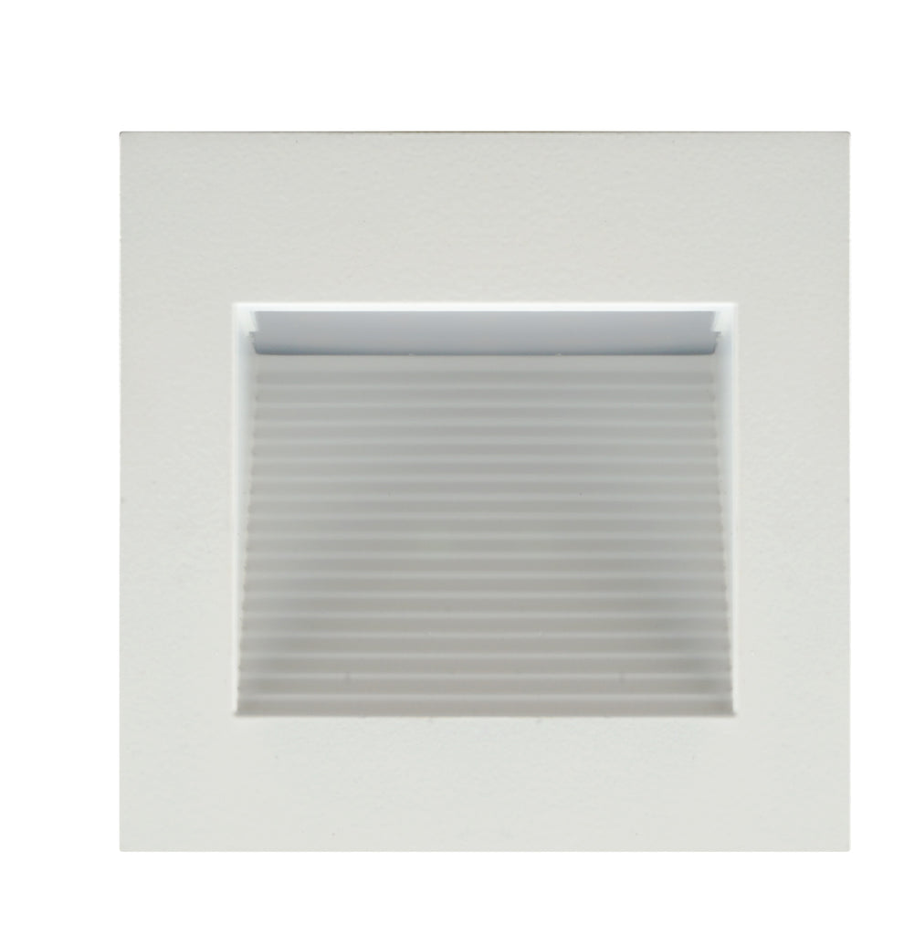 NICOR LED Square Accent Pathway Steplight, White