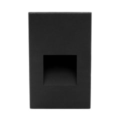 STW Series Vertical Wet Location LED Step Light Black
