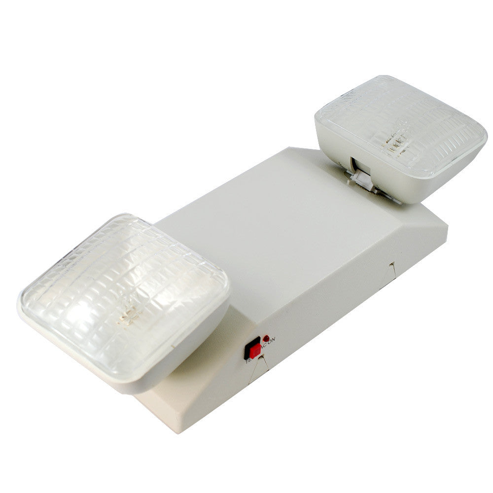 SUNLITE 9 Watt 2 Head Emergency lighting fixture - White