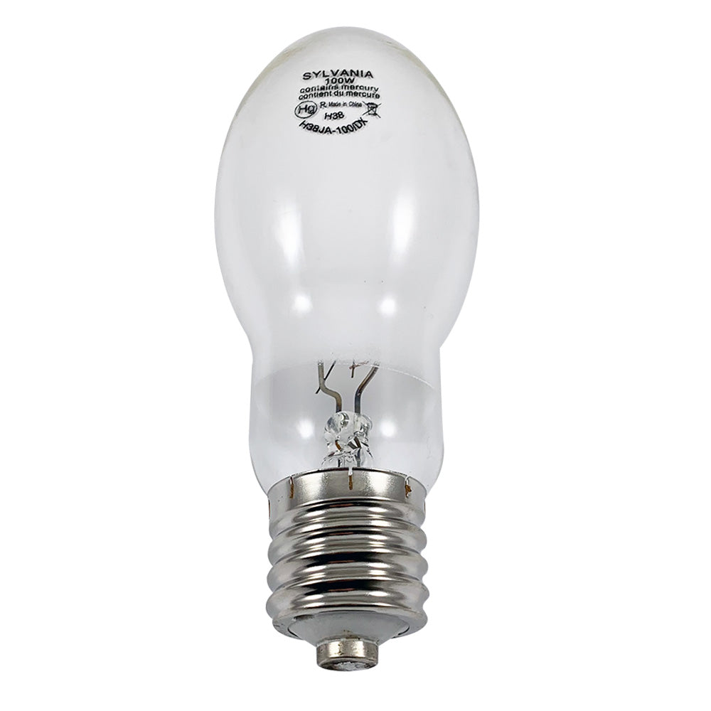 Sylvania 100w H38 ED23.5 Coated Mercury Vapor Lamp - H38JA-100/DX