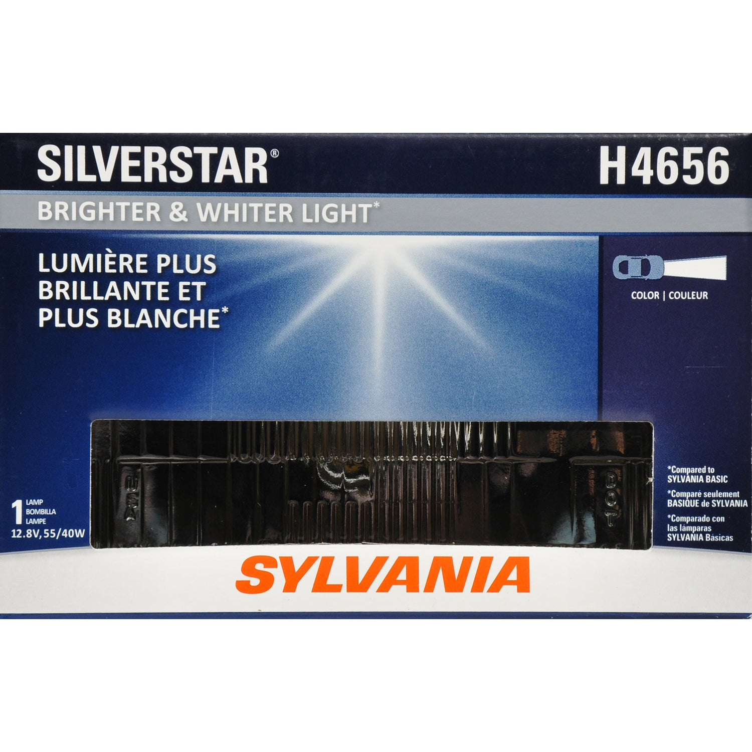 SYLVANIA H4656 2A1 SilverStar High Performance Halogen Headlight 100x165