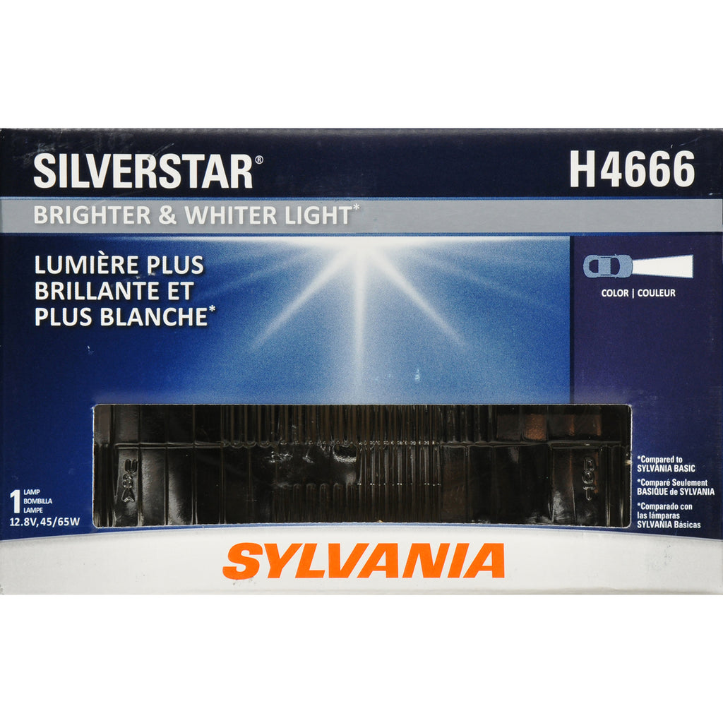 1-PK SYLVANIA H4666 SilverStar High Performance Halogen Headlight 100x165