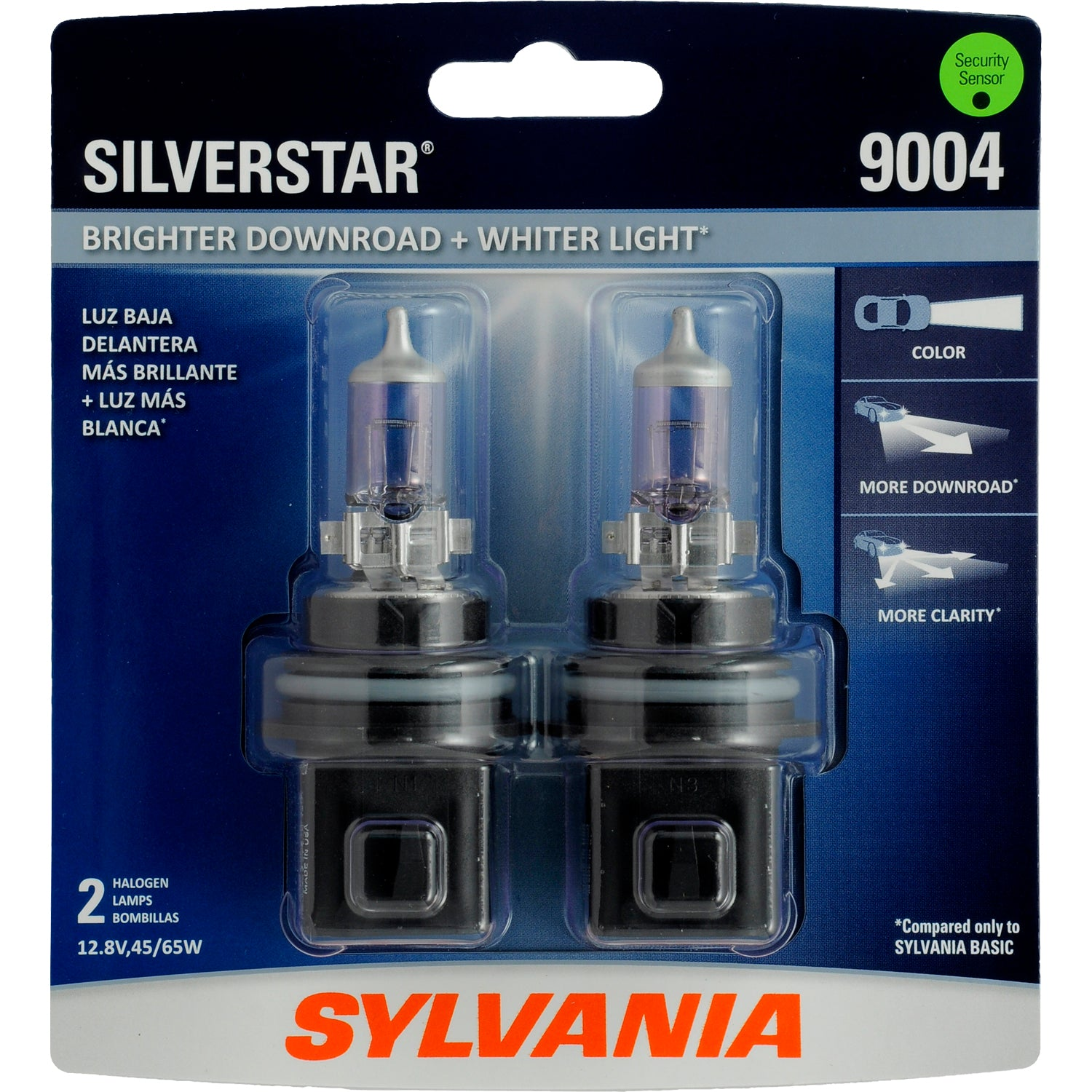 2-PK SYLVANIA 9004 SilverStar High Performance Halogen Headlight Bulb