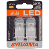 2-PK SYLVANIA ZEVO 3047 Amber LED Automotive Bulb