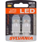 2-PK SYLVANIA ZEVO 3057 Amber LED Automotive Bulb