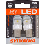 2-PK SYLVANIA ZEVO 7528 White LED Automotive Bulb