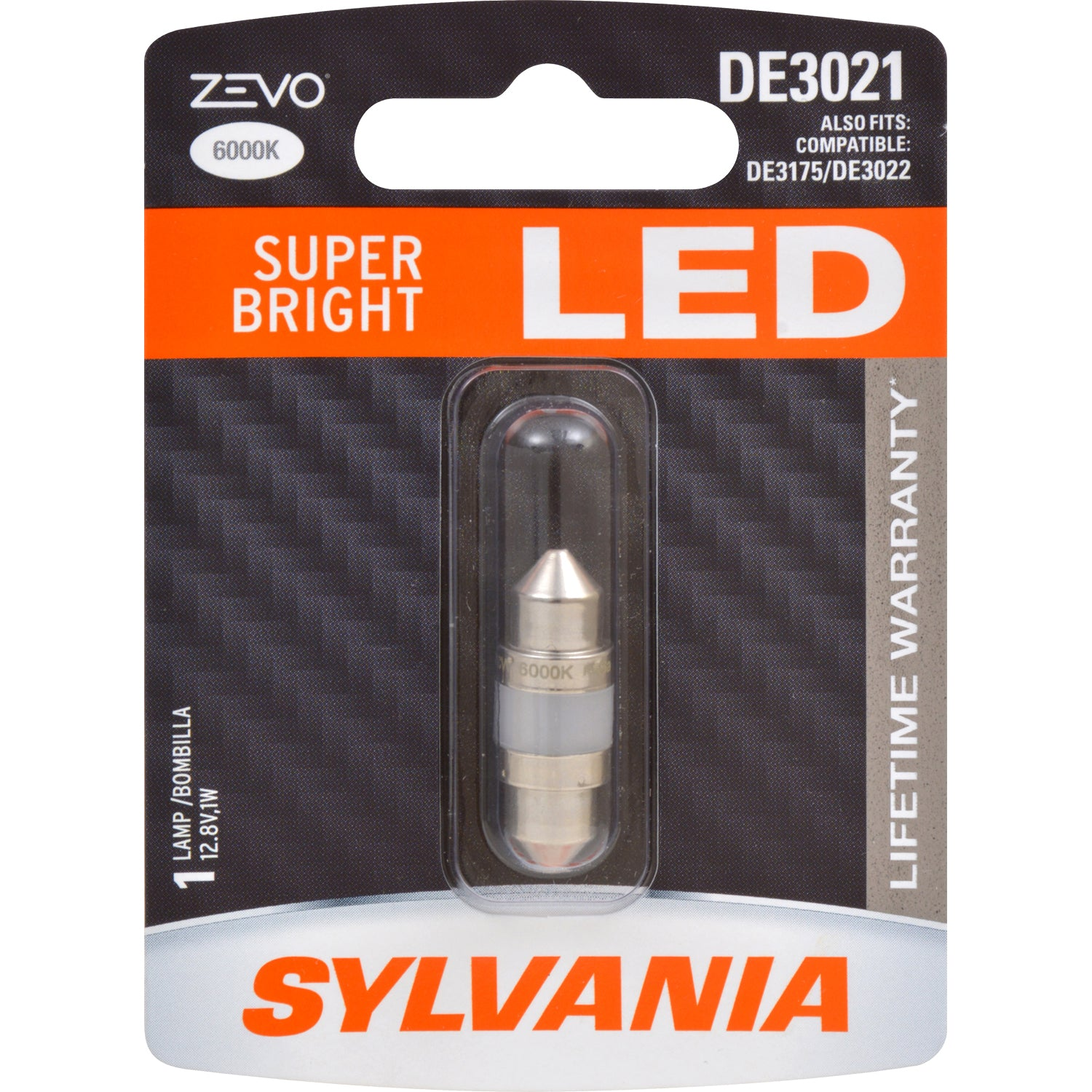 SYLVANIA ZEVO DE3021 31mm Festoon White LED Bulb