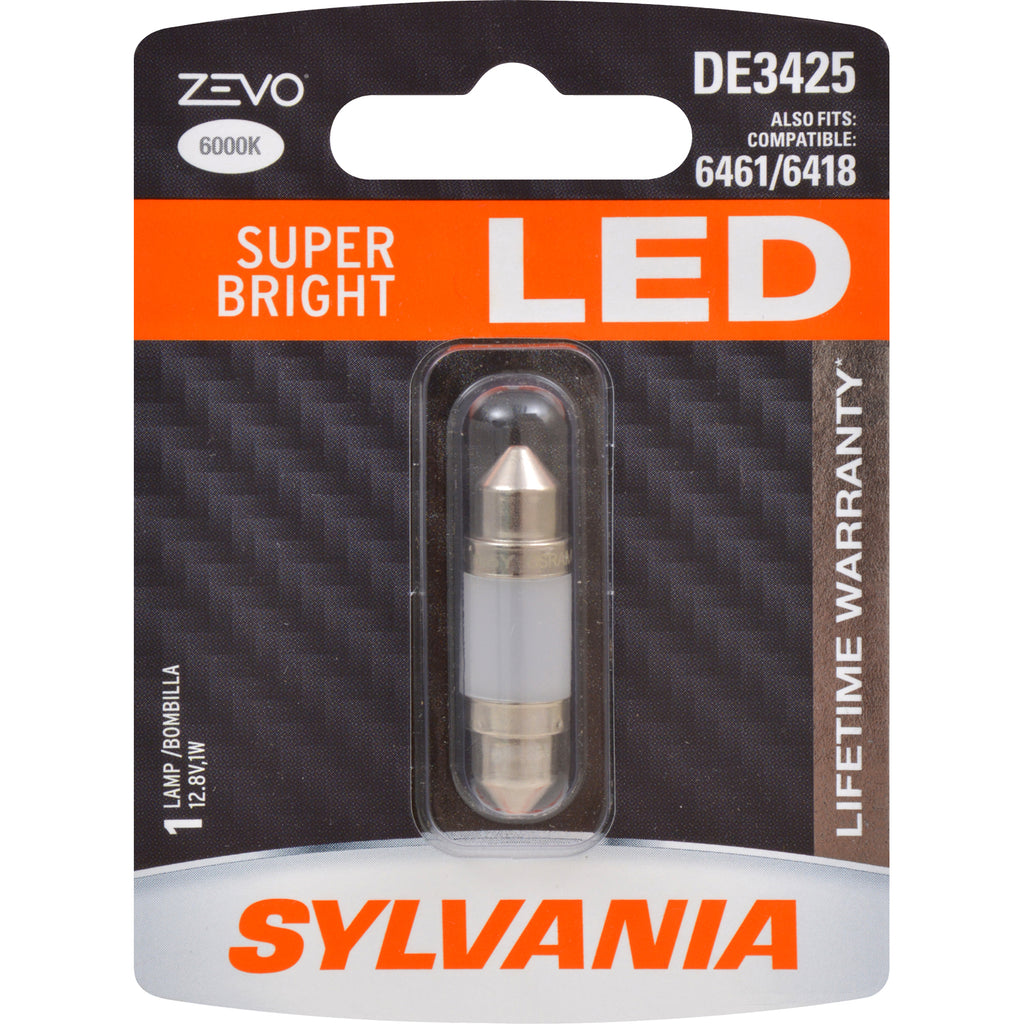 1-PK SYLVANIA ZEVO DE3425 36mm Festoon White LED Bulb