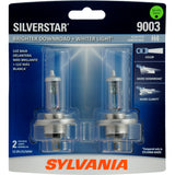 2-PK SYLVANIA 9003 (fits H4) SilverStar High Performance Halogen Headlight Bulb