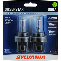 2-PK SYLVANIA 9007 SilverStar High Performance Halogen Headlight Bulb
