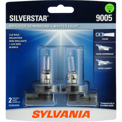 2-PK SYLVANIA 9005 SilverStar High Performance Halogen Headlight Bulb
